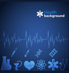 medicine blue background vector image