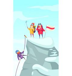 Mountaineering peak cartoon vector