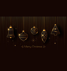 new year greeting card with christmas decoration vector image