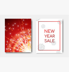 new year sale concept night flyers banner with vector image