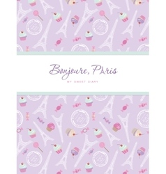 Notebook cover design on the theme of Paris vector image