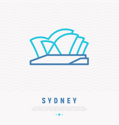 Opera house thin line icon vector