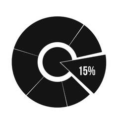 Percentage diagram icon simple style vector image