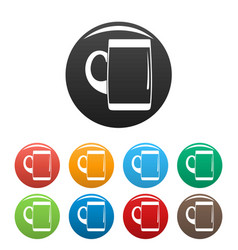 pint of beer icons set color vector image