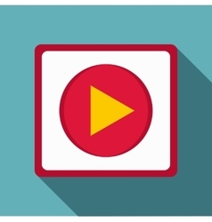 Play icon flat style vector