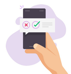 Poll vote digital quiz message notification chat vector