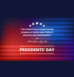 Presidents day background with abraham lincoln vector