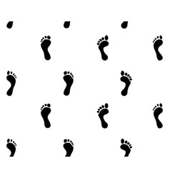 prints of feet seamless vector image