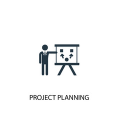 project planning icon simple element vector image