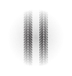 Radial gradient dots tire track vector