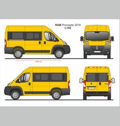 Ram promaster passenger van l1h2 2018 vector