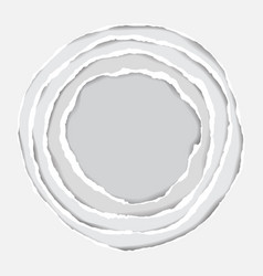 realistic ripped paper circle elements vector image