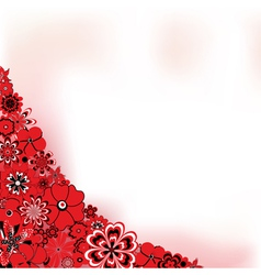 Red Flower Background vector image