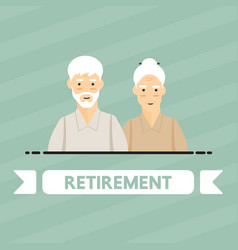 retirement people vector image