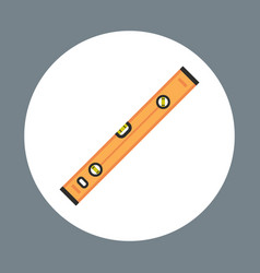 Ruler icon working hand tool equipment concept vector