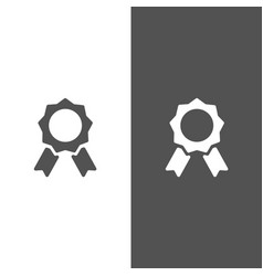 seal of authenticity on black and white background vector image