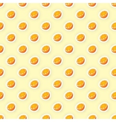 seamless pattern background with orange vector image