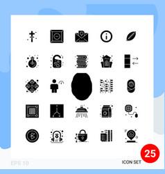 Set 25 commercial solid glyphs pack vector