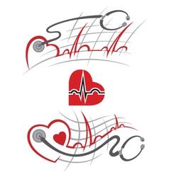 Set electrocardiogram vector