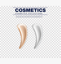 Set of cosmetic white cream texture vector