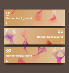 Set of soft horizontal banners vector