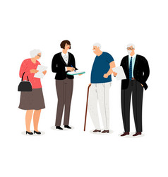 social work concept vector image