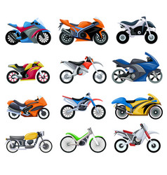 sport motorcycles transport vector image