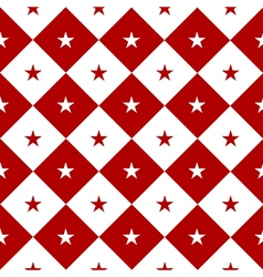 Star Red White Chess Board Diamond Background vector image