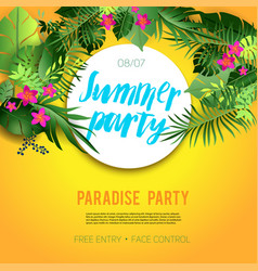 Summer vibes party vector