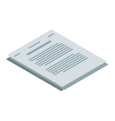 tax paper icon isometric style vector image
