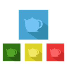 teapot on white background vector image