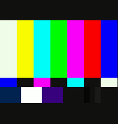 television color test pattern vector image