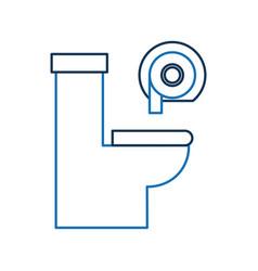 Toilet bowl and dispenser paper equipment bath vector