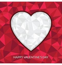 valentine heart decoration vector image