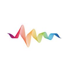 wave line icon vector image