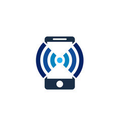 wifi mobile logo icon design vector image