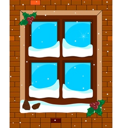 window blue vector image