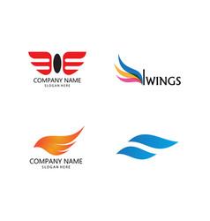 Wing logo symbol vector