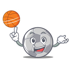 With basketball football character cartoon style vector