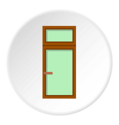 Wooden window icon circle vector