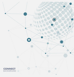 world globe connect concept design vector image