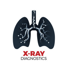 X-ray diagnostics concept vector