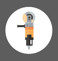 Angle grinder icon working hand tool equipment vector