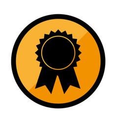 circular emblem with medal prize vector image