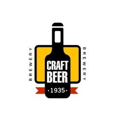 Craft Beer Logo Design Template vector image