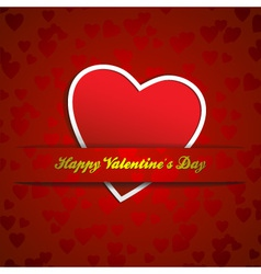 paper heart valentines vector image vector image
