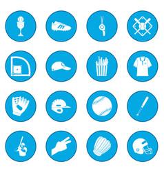 american football icon blue vector image