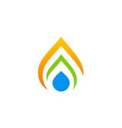 droplet abstract bio ecology logo vector image vector image