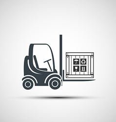 Logo forklifts with compartment vector
