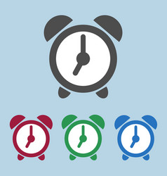 set of color alarm clock icons sign symbol vector image vector image